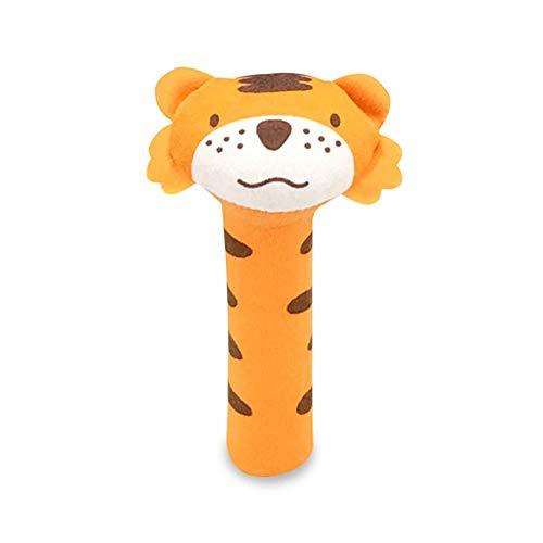 Nigoz juguete sonajero palillos de peluche encantador animal de peluche juguetes chirriantes campanas de mano para niños recién nacidos tigre calidad superior y creativa artesanía exquisita