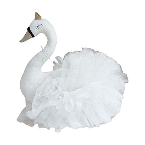 GUMEI Lindo Cisne de Peluche de Juguete de Gasa Suave Almohada bebé durmiendo muñeca Regalos de cumpleaños