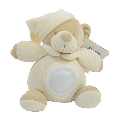 Kögler 20331 - Peluche con luz Nocturna, Oso en Beige, lámpara LED con Cambio de Color armonioso, Aprox. 24 x 25 cm, Ayuda para Dormir a bebés y niños pequeños