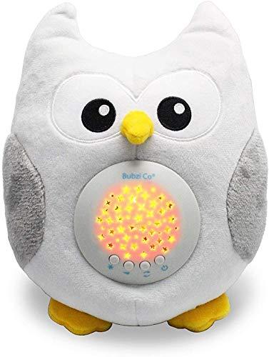 Sensor Activado Por el llanto Del Bebé Peluche para Bebé Búho -Máquina de Ruido Blanco–Luz quitamiedos Infantil–Regalo para Bebé Niña-Regalo de Baby Shower-Calmante del Sueño–Regalo para Recién Nacido