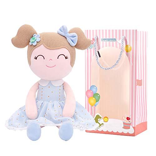 Gloveleya Baby Doll Girl Regalos muñecas de Felpa Juguete Azul 13 Pulgadas con Caja de Regalo