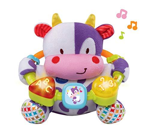 VTech- Vaca muusical Peluche Interactivo de Bebe con Suaves, Multicolor, única (3480-166022)