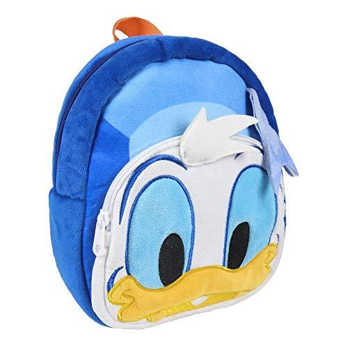 Artesania Cerda Personajes Clasicos Disney Donald - Mochila Infantil, 22 cm, Azul